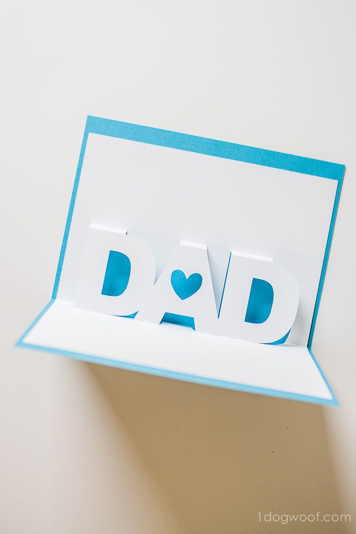 Fathers Day PopUp Card with Free Silhouette Templates – How to Make Birthday Pop Up Cards Easy