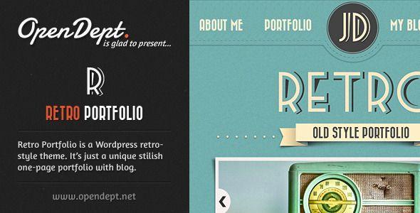 Download Retro Portfolio - One Page Vintage Wordpress Theme ...