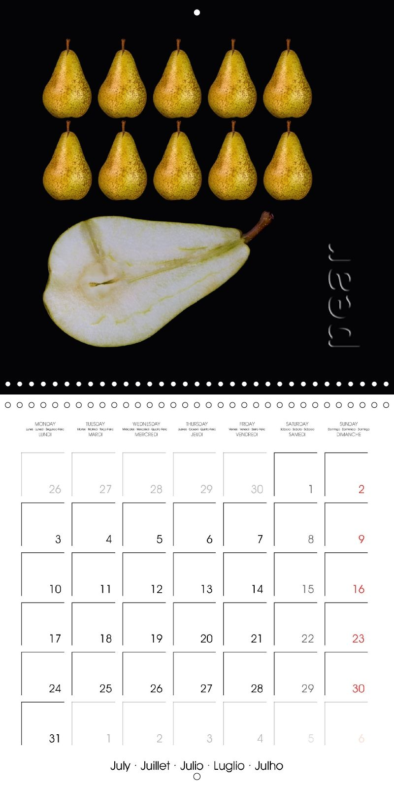 These images combine elegance and simplicity, reducing everything to the essentials. The calendar fits perfectly into every modern kitchen.