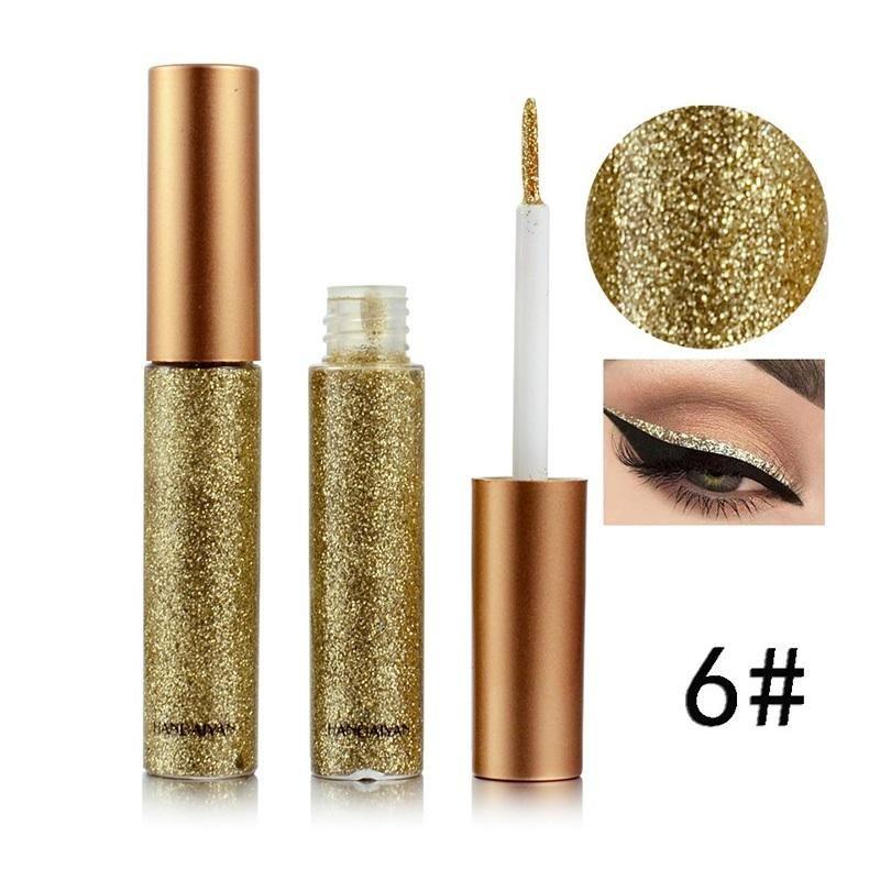 HANDAIYAN Eyeliner Liquid Waterproof Delineador Glitter Eyeliner Pencil #glittereyeliner