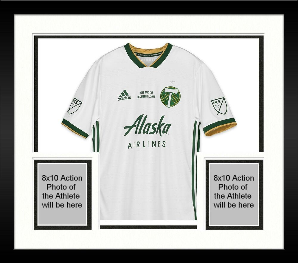 outlet online hot new products amazing selection Framed Zarek Valentin Portland Timbers Signed MU White #16 Jersey ...