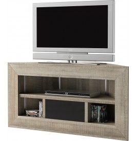 meuble tv dangle chne gris brooklyn - Idee Meuble Tv Angle