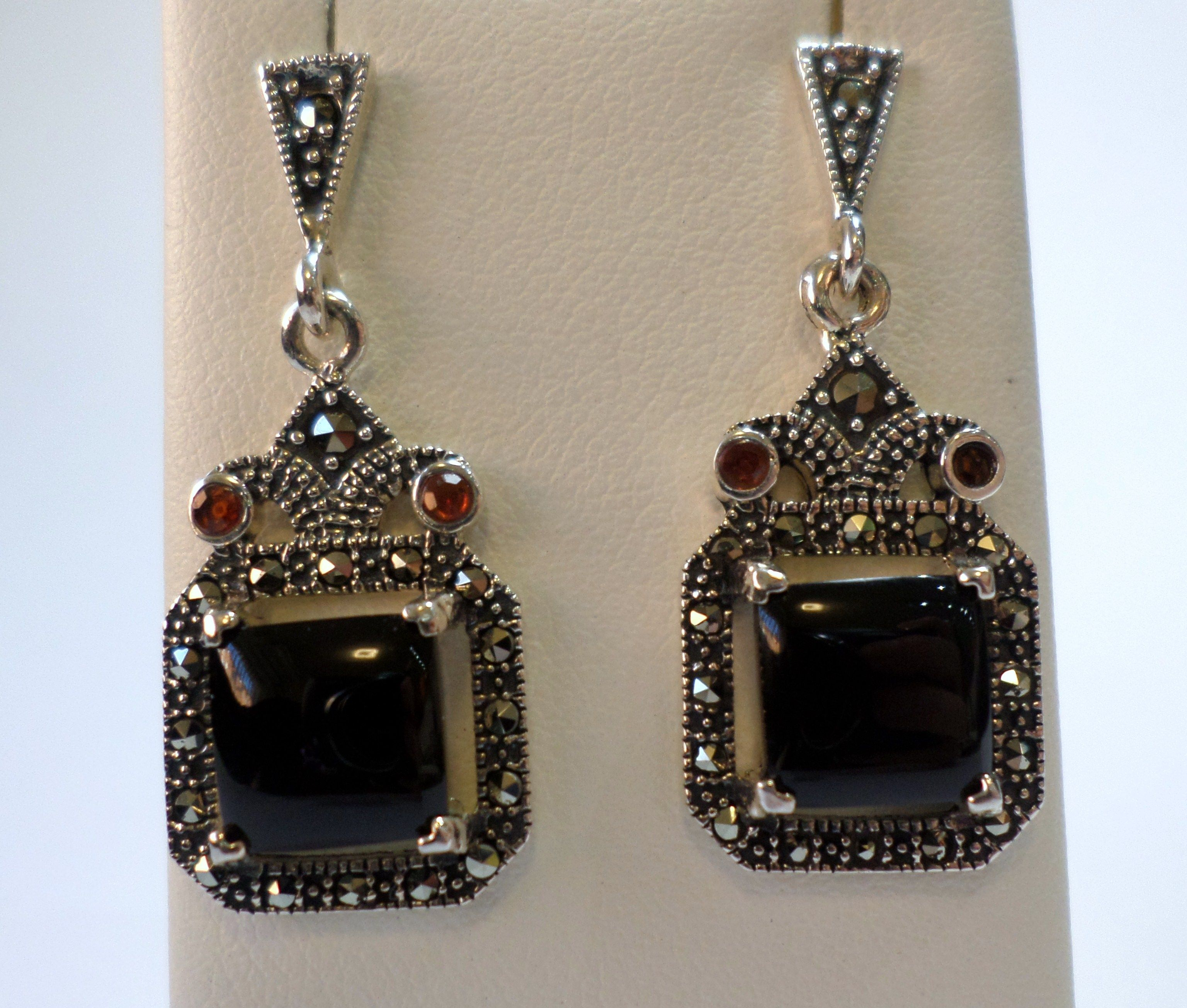 earrings antique bohemian gold garnet products top stud victorian