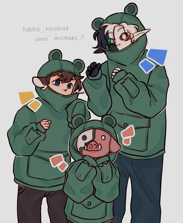 froggie hoodie family :D