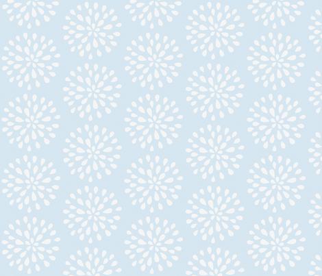 Bursting Bloom in Sea Blue-ed fabric by drapestudio on Spoonflower - custom fabric - http://www.spoonflower.com/designs/3975718