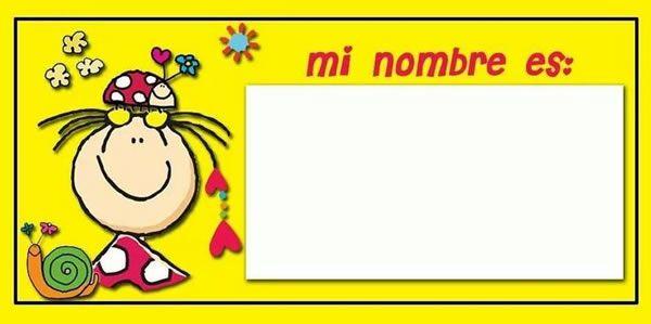 Plantillas De Gafetes Para Niños Gafete Individual Manualidades