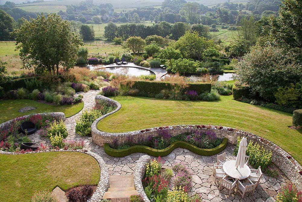 Ian Kitson Serpentine Wall | Garden design, Garden ...