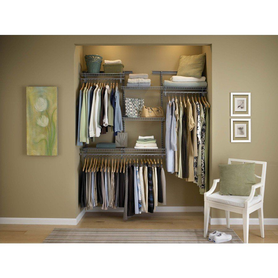 ClosetMaid 4 Ft To 6 Ft ShelfTrack SuperSlide Closet Organizer Kit   Satin  Chrome (78808) | Loweu0027s Canada
