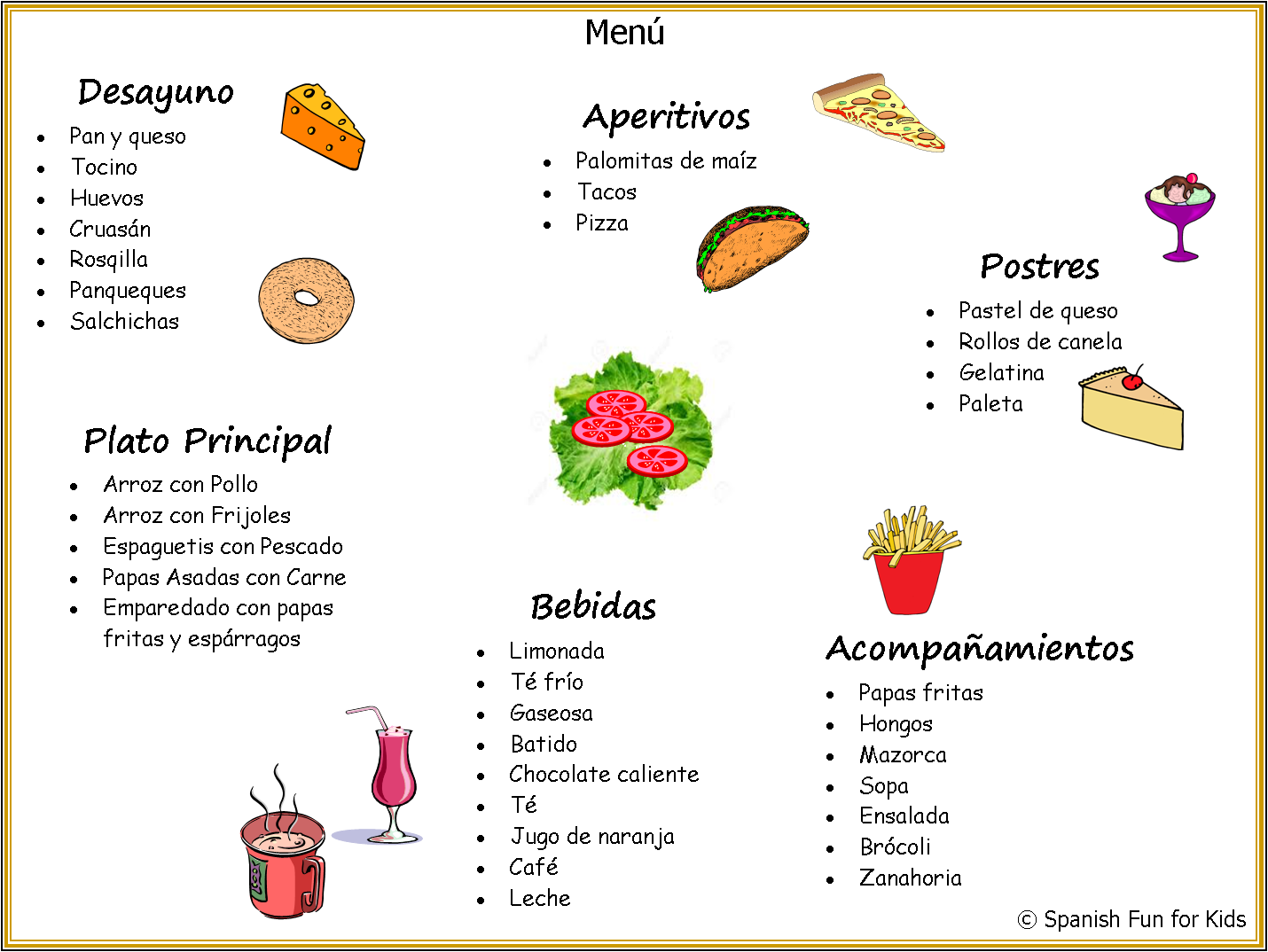 fun ideas and activities with la comida here is an activity that
