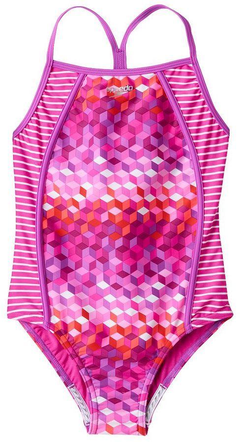 4cf41bf0189d2 $22 swim suit. Girls 7-16 Speedo One-Piece Swimsuit | Kid Style ...