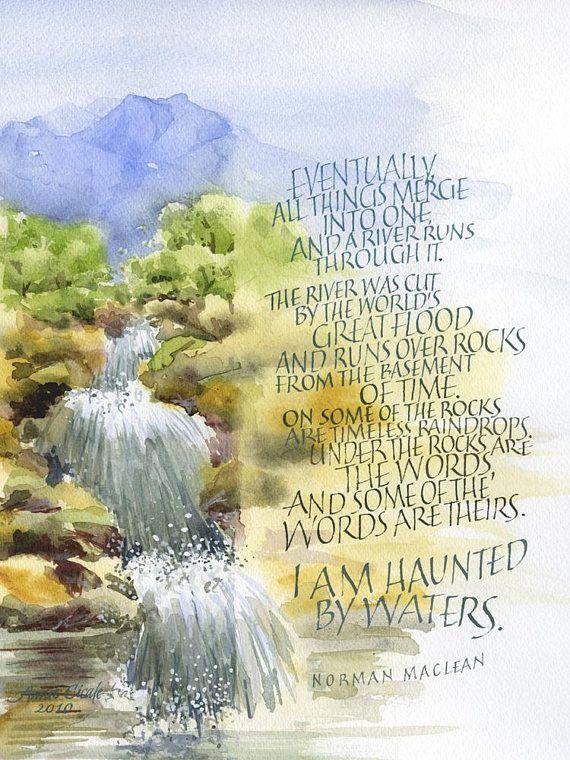 A River Runs Through It With Images River Run Through Word Art