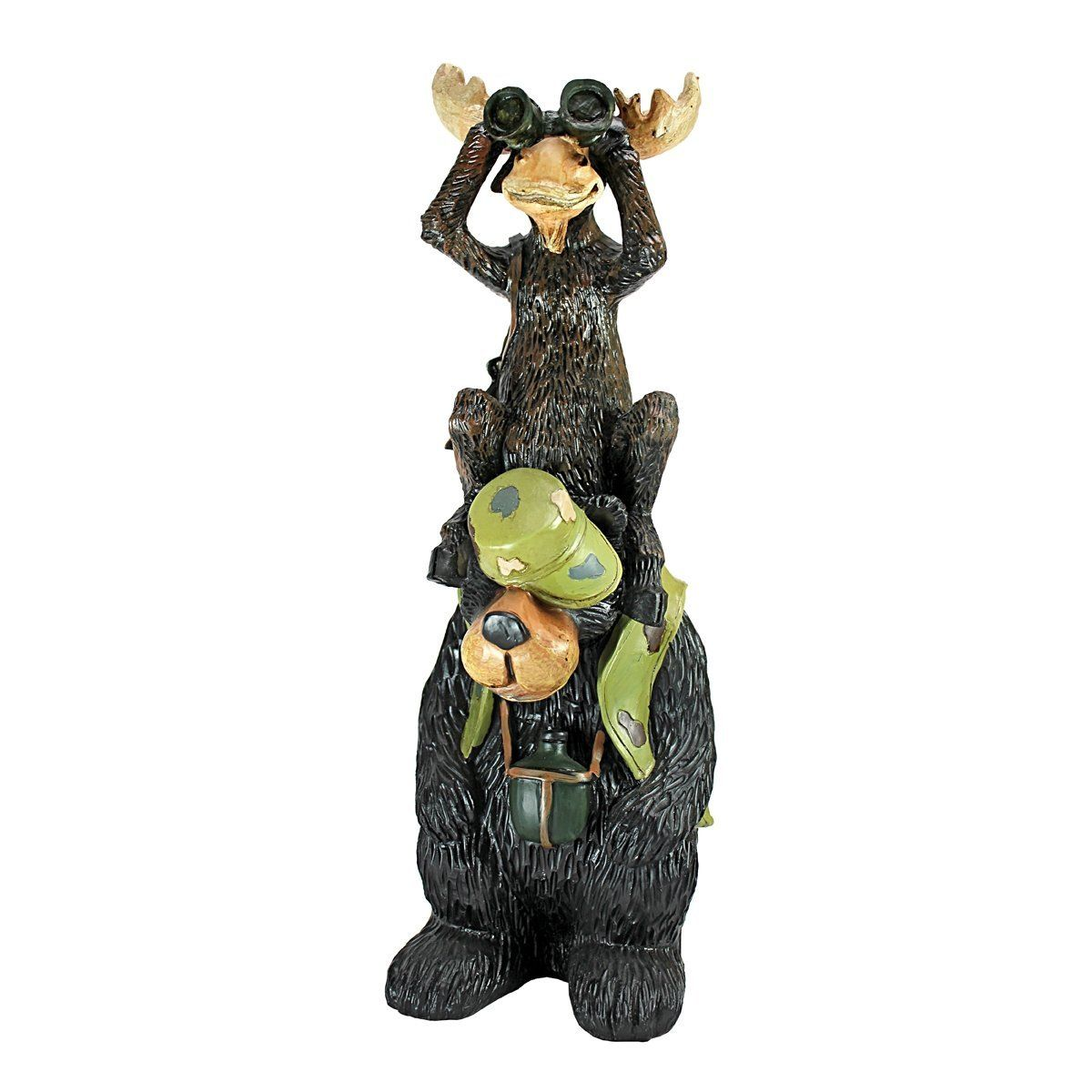 Garden decor statues  Design Toscano Back Woods Hunting Buddies Moose and Bear Statue