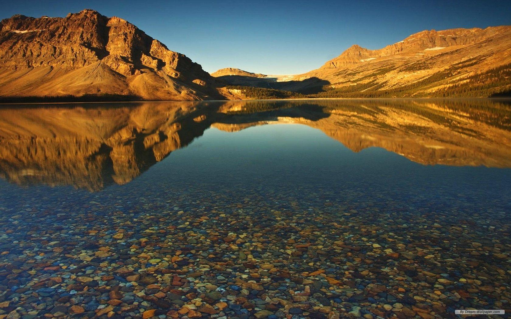 Free Nature Wallpaper Hd Landscape 5 Wallpaper 1680x1050 Wallpaper Index 6 Mountain Lakes Hd Landscape Lake Photos