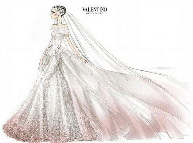 desnhos de alexander mqueen | Anne Hathaway : découvrez le croquis de sa robe de mariée !