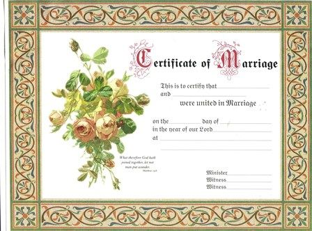 This is a certificate I give each couple for their memory book If - marriage certificate