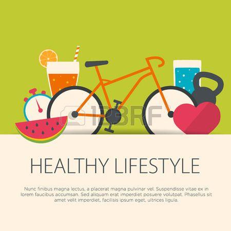 Concepto De Estilo De Vida Saludable En Diseño Plano Ilustración Del Vector Health Resolutions Boston Childrens Hospital Logo Packaging Design