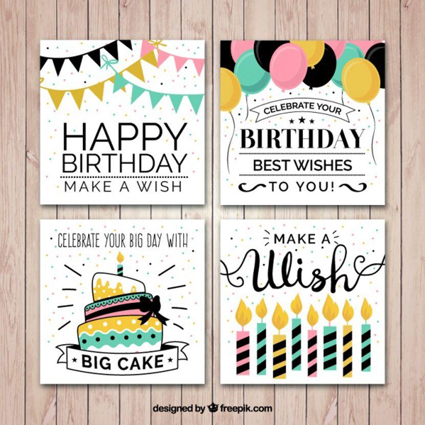 Invitaciones De Cumpleaños Originales Coleccion De Tarjetas