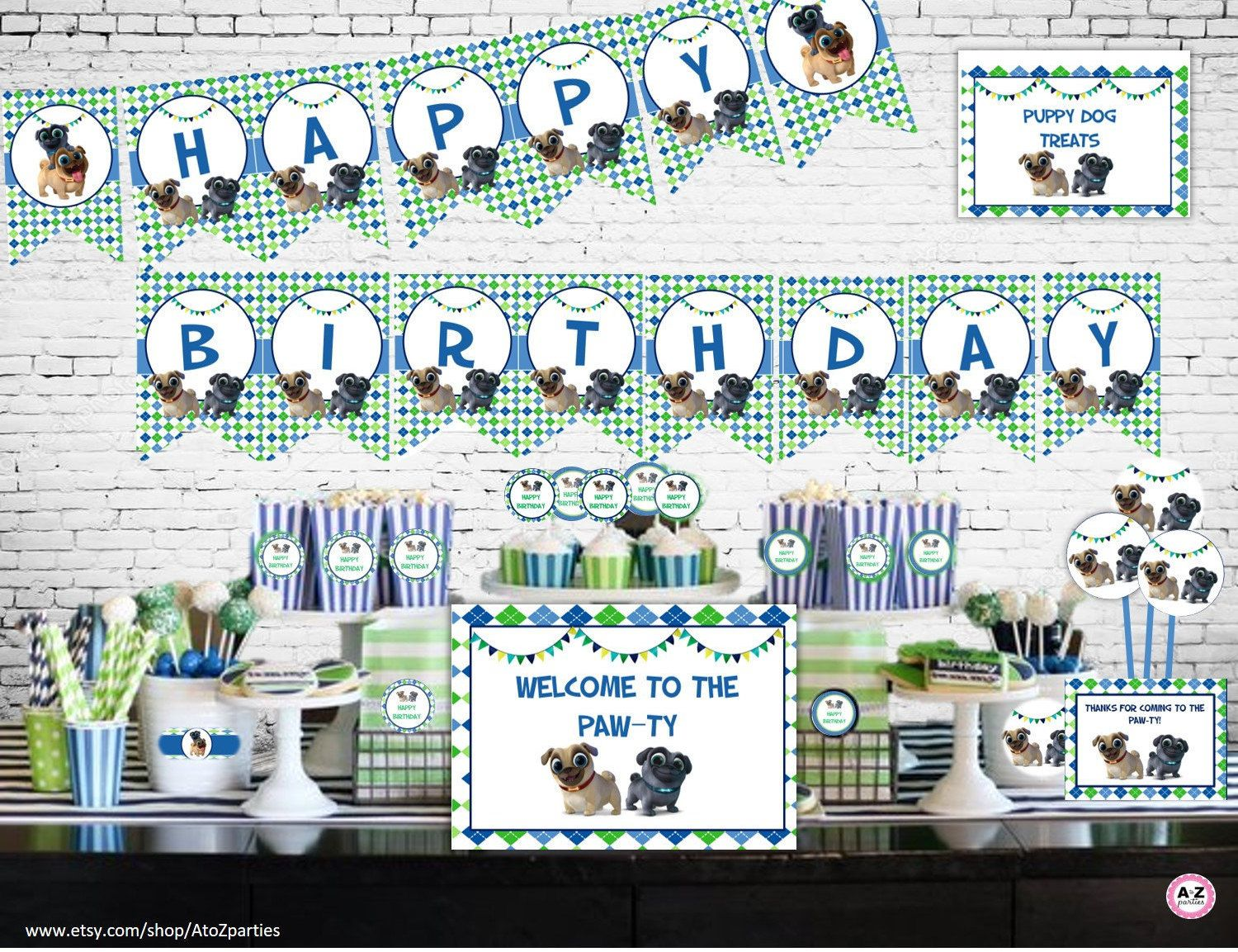 Puppy Dog Pals Birthday Puppy Dog Pals Party Decorations Instant