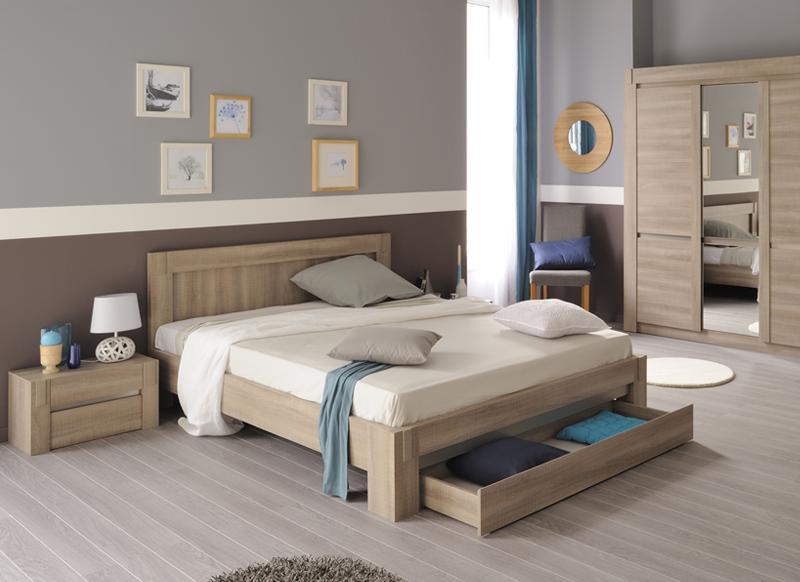 ensemble lit avec tiroir bois valia lit bed bedroom et home decor. Black Bedroom Furniture Sets. Home Design Ideas