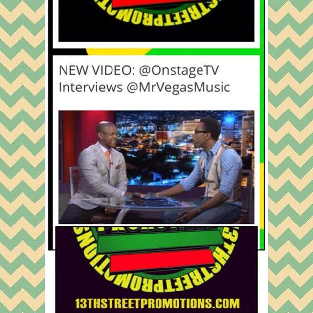 #VIDEO: @OnstageTV #Interviews@MrVegasMusic http://t.co/BH0RVGFfFE #jamaica #reggae #dancehall #mrvegas #reggaeeuphoria #blog #cvmtv #onstagetv