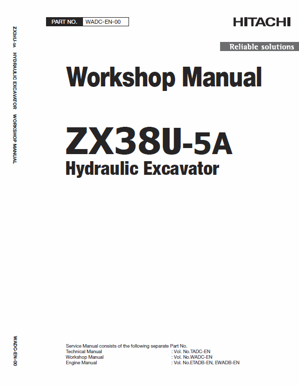 Hitachi Zx38u 5a Excavator Service Manual Hitachi Electrical Circuit Diagram Excavator