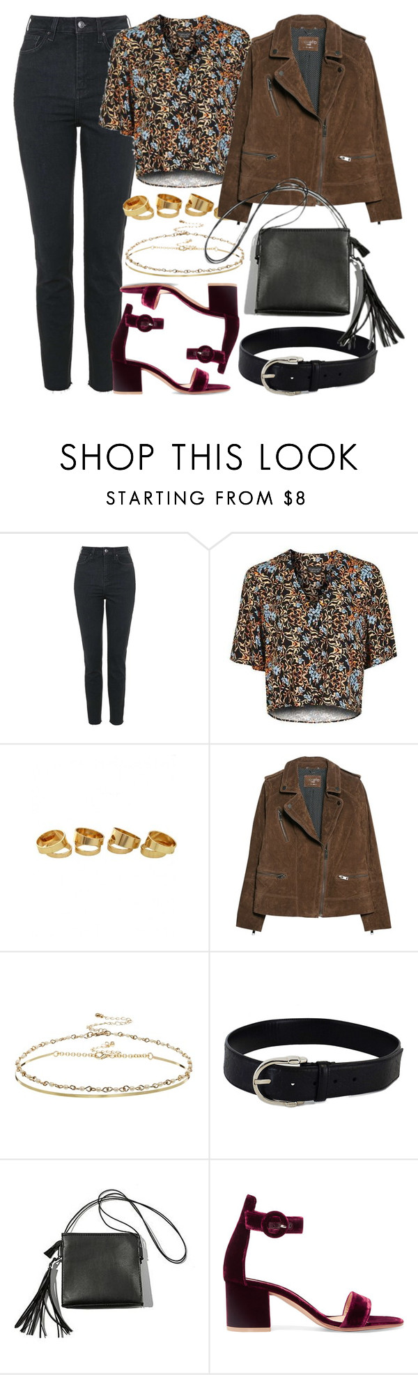 """Untitled #5783"" by rachellouisewilliamson ❤ liked on Polyvore featuring Topshop, Violeta by Mango, ASOS, Gucci and Gianvito Rossi"
