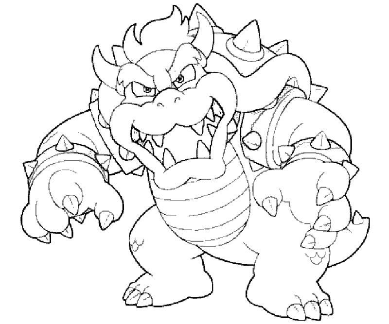 Bowser Jr Coloring Pages Coloring Home Mario coloring