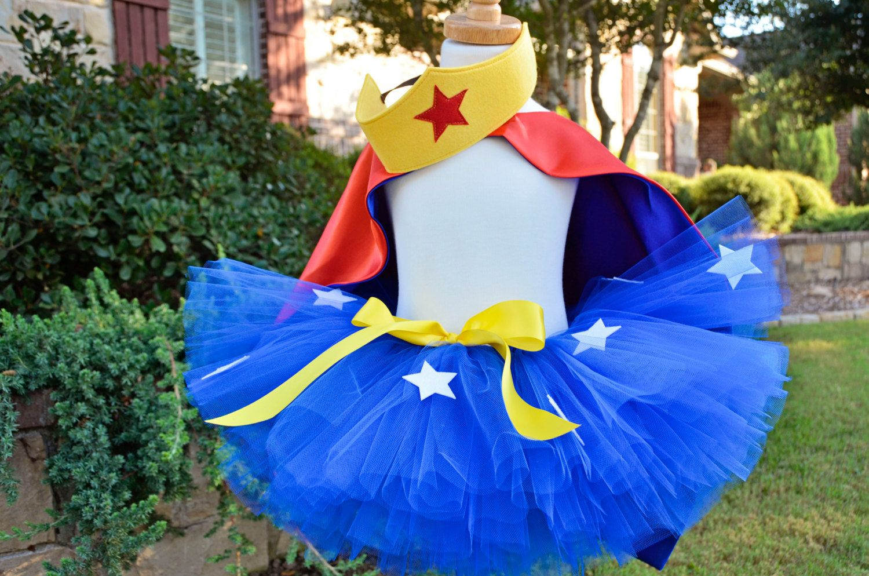 Diy Tutu Kit - Wonder Woman Inspired Tutu Costume With -9540