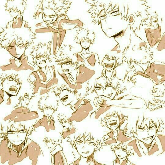 "Bakugou ""Kacchan"" Katsuki, different expressions, text, funny; My Hero Academia"