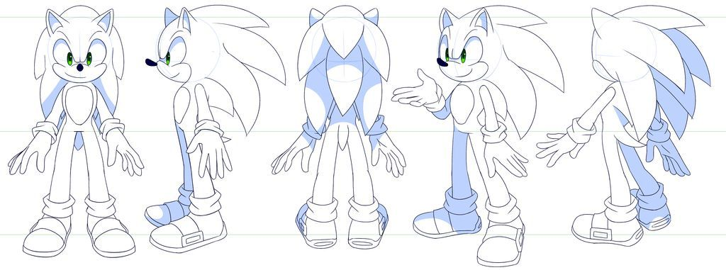 Sonic ref sheet by Myly14 on DeviantArt
