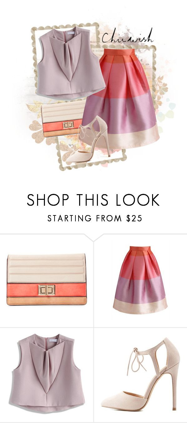 """""""ChicWish Contest !!!"""" by elena-indolfi ❤ liked on Polyvore featuring Melie Bianco, Chicwish and Charlotte Russe"""
