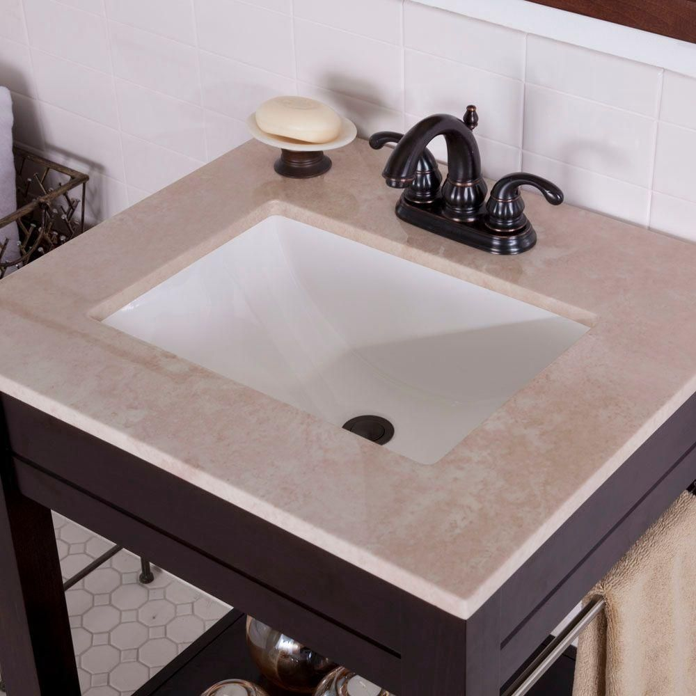 St Paul 4 In Stone Effects Vanity Top Sample Sahara And