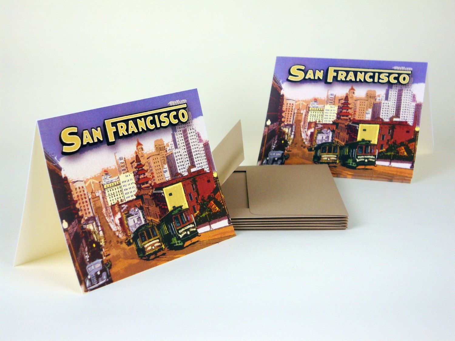San Francisco Blank Note Cards 6 w