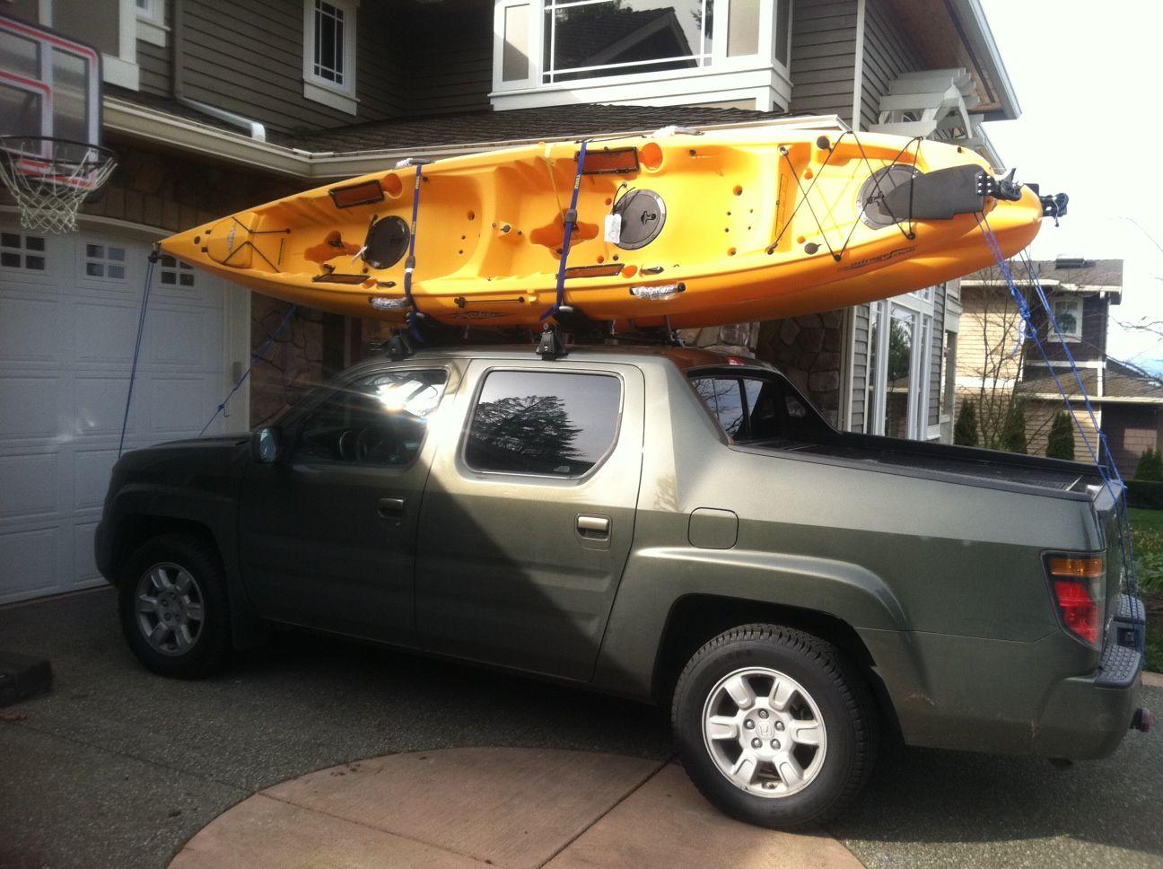 Honda Ridgeline Kayak Roof Rack, Truck Racks for Kayaks | Trucks ... | Kayak | Kayak roof rack ...