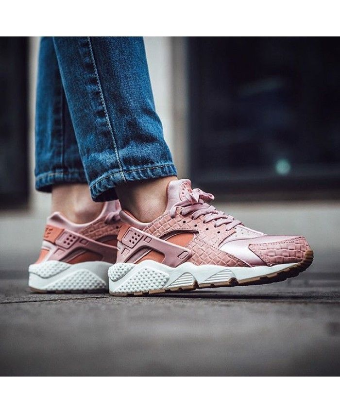 27803b95d0ae9 Nike Air Huarache Run Premium Womens Trainers In Pink Glaze Pearl Pink