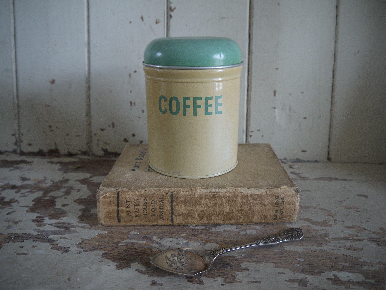Photo of Vintage Worcester Ware tea Tin – Vintage tea Canister – Coffee Tin – Worcesterware Tin – Coffee Canister – Kitchen Canister – canister