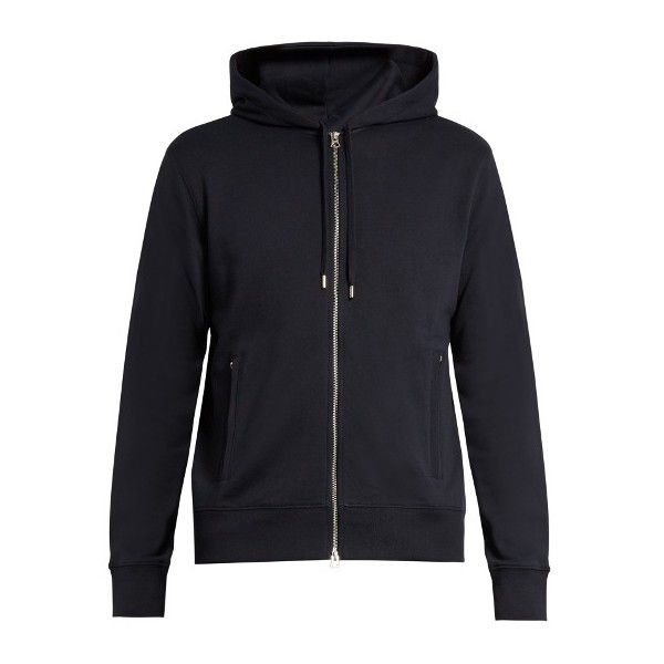 Acne Studios Johna hooded cotton sweatshirt ($175) ❤ liked on Polyvore featuring men's fashion, men's clothing, men's hoodies, men's sweatshirts and mens hooded sweatshirts