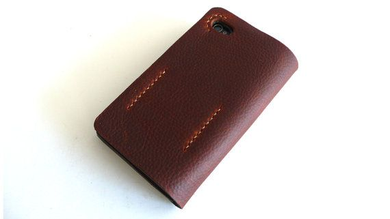 iPHONE 4 / 4s WALLET with Silicone Case in KODIAK by zenokleather, $60.00