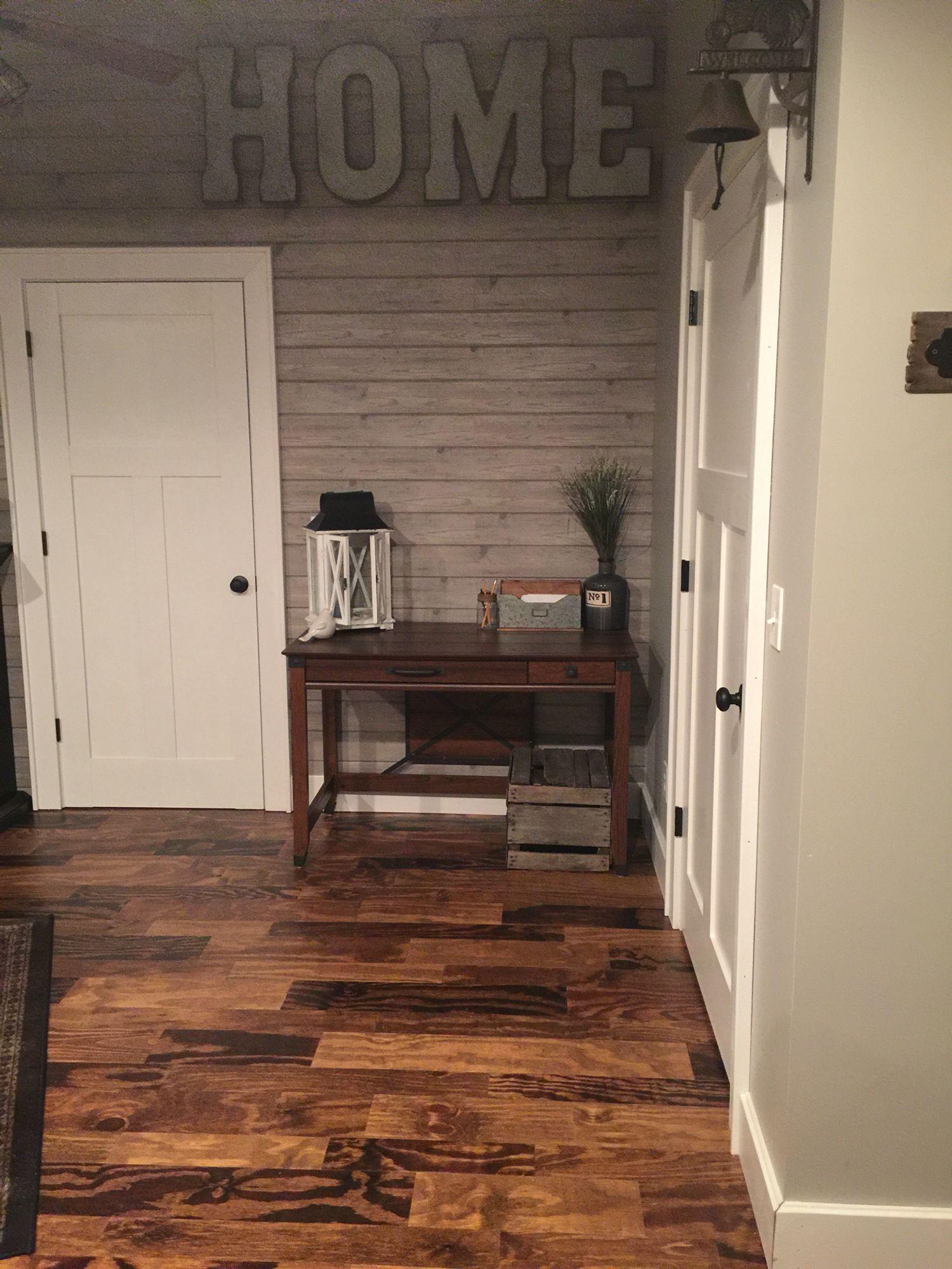 Handmade plywood floor farmhouse decorating  my finished