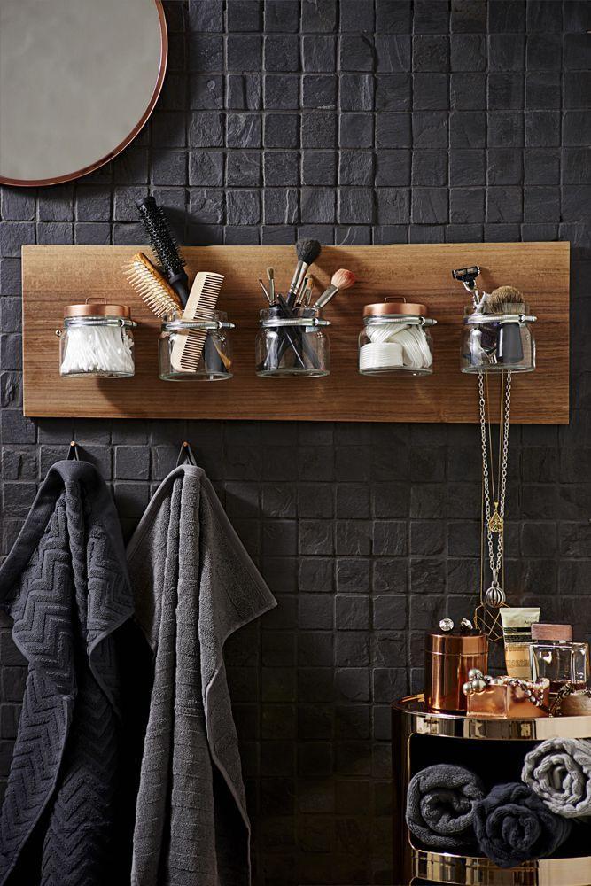Wenn ich ein kleines Badezimmer habe, kommt diese Kombination aus Aufbewahrung und Aufhängen – DIY-Ideen