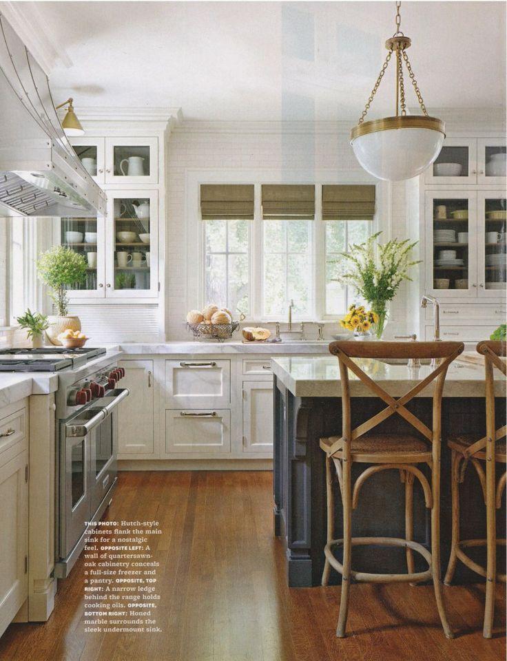 white kitchen, painted island Kitchen style, Kitchen