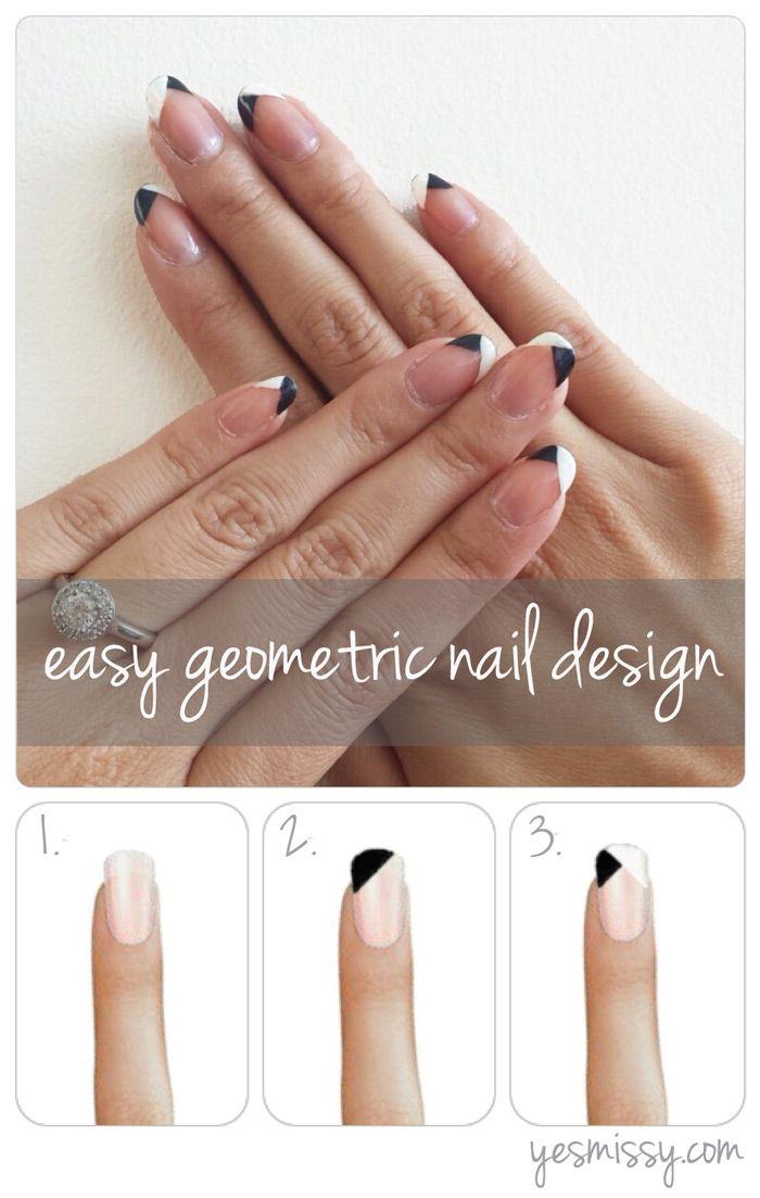 DIY Nail Art - Easy Geometric Design Tutorial