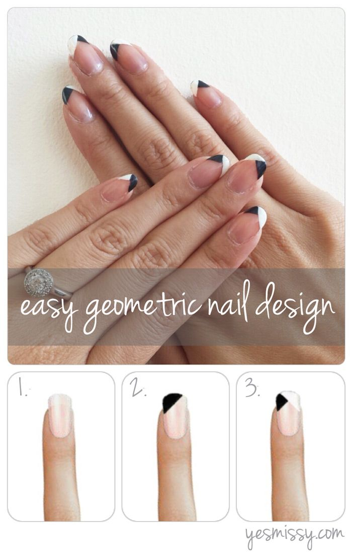 Diy Nail Art Easy Geometric Design Nice Nails Pinterest