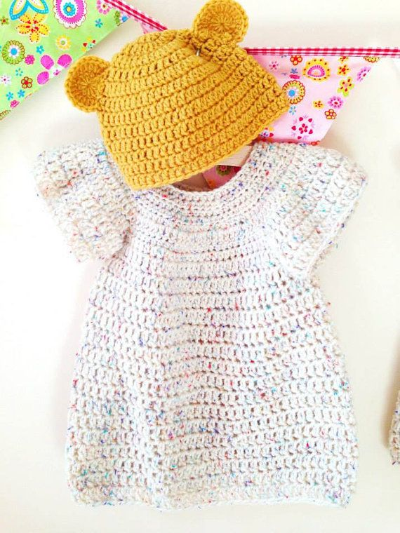 Frank&Olive Angel Sleeves Dress PATTERN  por FrankandOliveCrochet