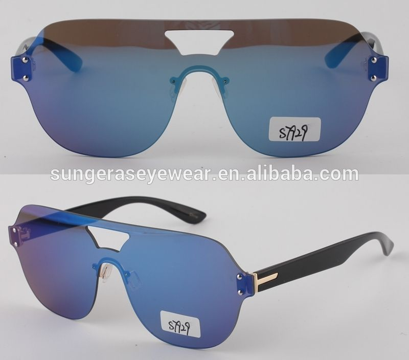 312f199005d Sungeras China Monoblock Oversize Safety Plastic Frame Promotional Printed  One Piece Lens Vintage Steampunk Sunglasses For
