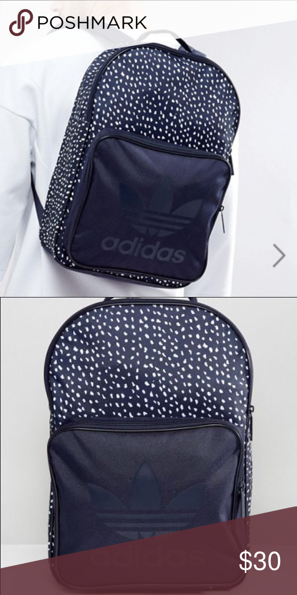 buy online 24e37 ab45e ADIDAS originals graphic backpack NEW    WITH TAGS - NAVY BLUE COLOR -  excellent condition - never used - large size backpack  can fit laptop, ...