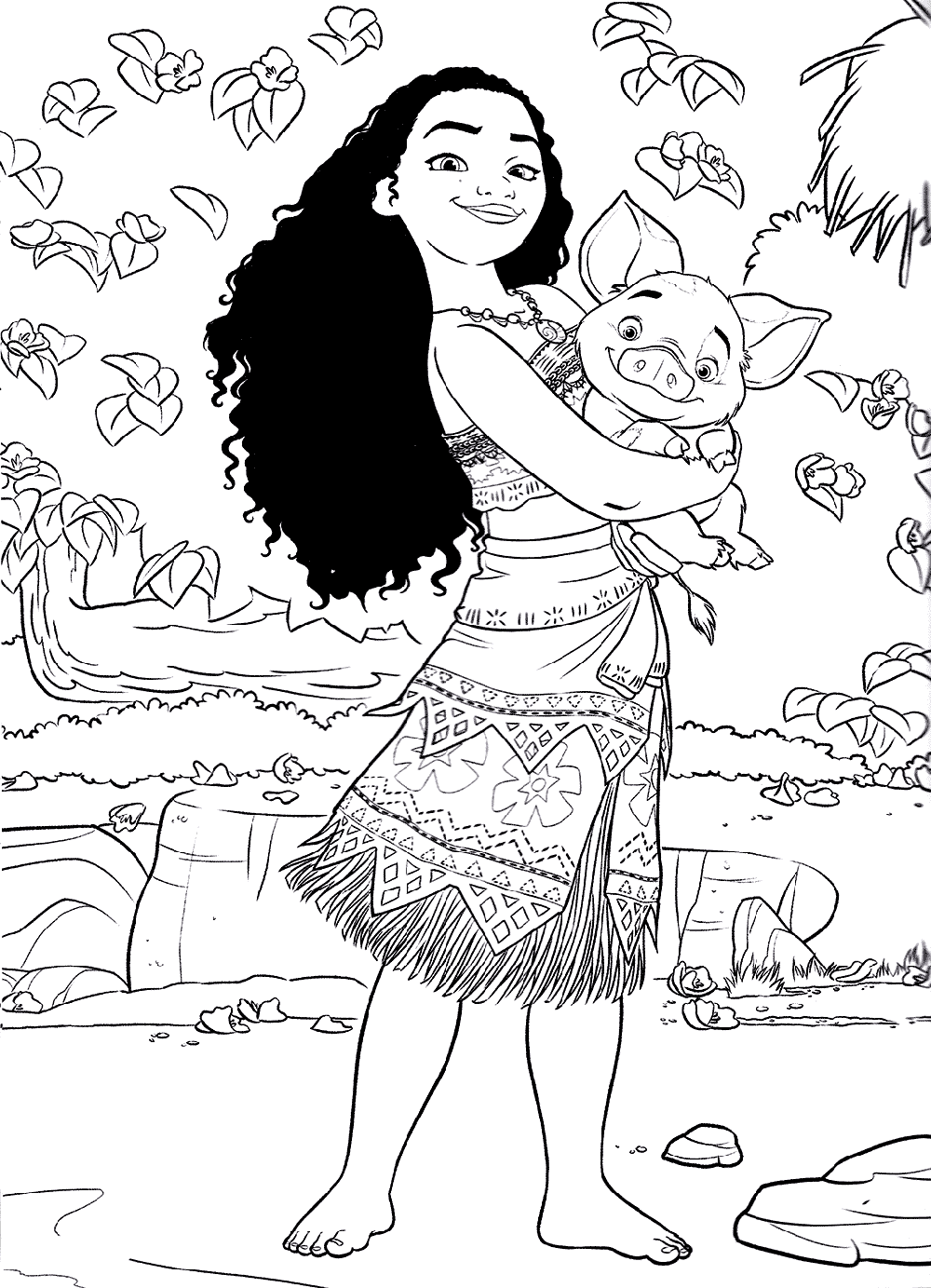 Summer Moana Coloring Book Educative Printable Moana Coloring Moana Coloring Pages Disney Coloring Pages
