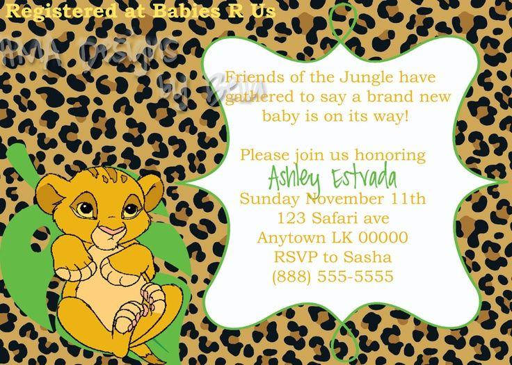Lion themed babyshower for a girl baby shower invites baby lion themed babyshower for a girl baby shower invites filmwisefo