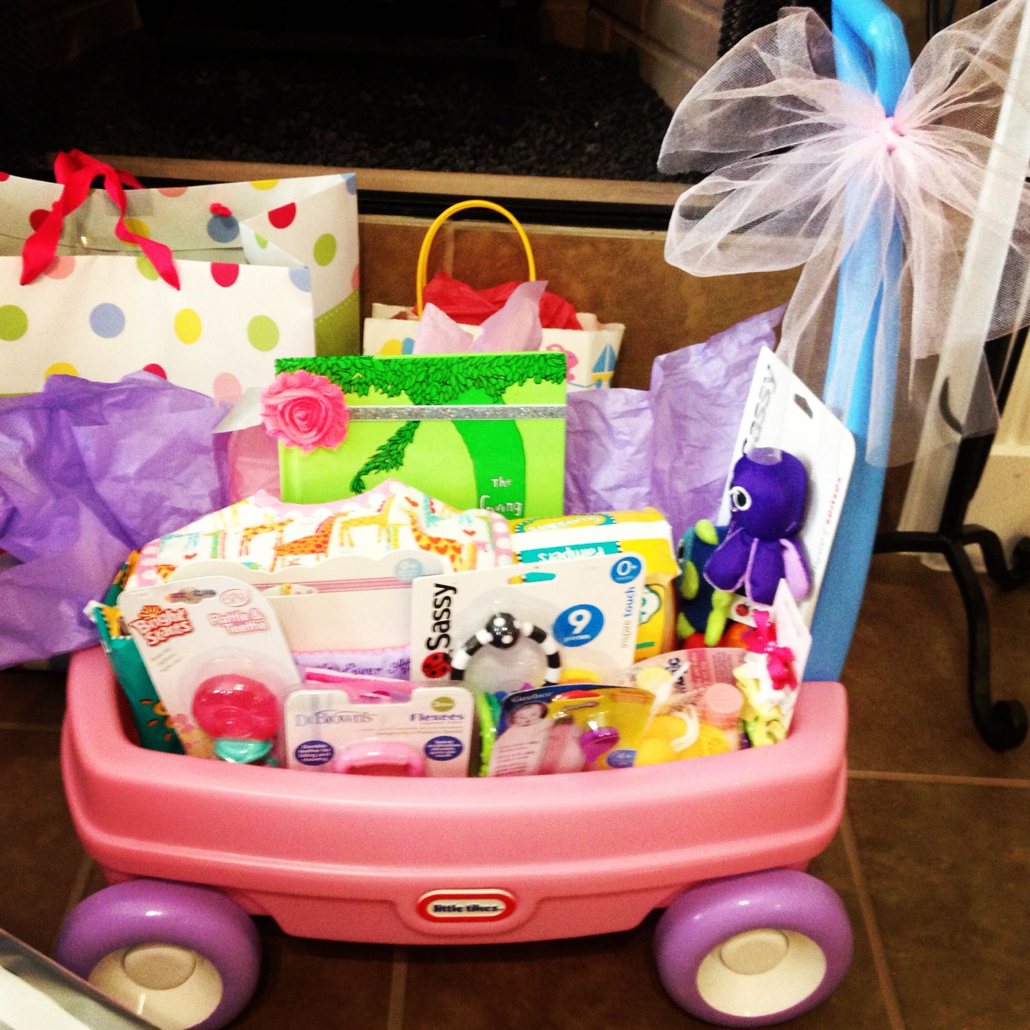 Baby Girl Wagon Gift In 2019 Baby Shower Gifts Girl