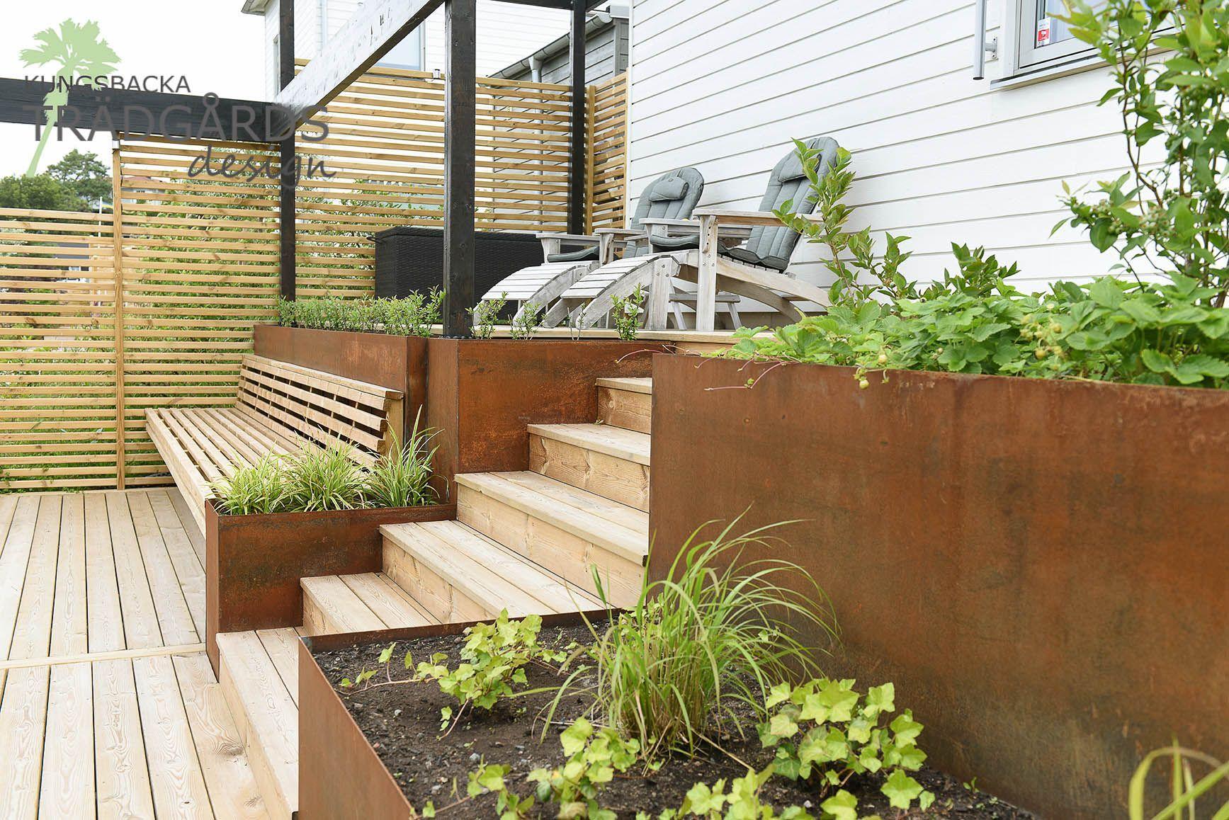 Tradgardsdesign In 2020 Abschussiger Garten Garten Terrasse Haus Und Garten